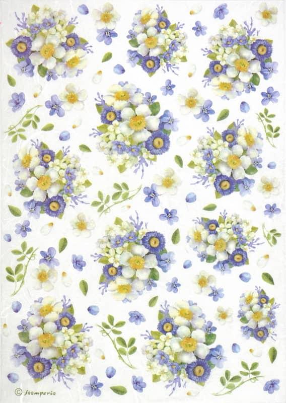 Rice Paper - Lilac Bouquet