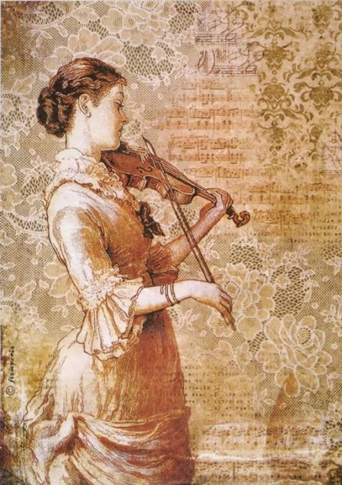 Rice Paper - Steampunk Women with Violin