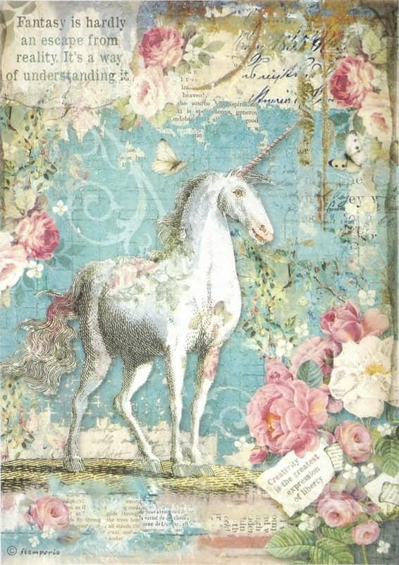 Rice Paper - Wonderland Unicorn