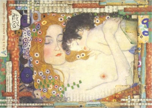 Rice Paper - Klimt Mother and Child