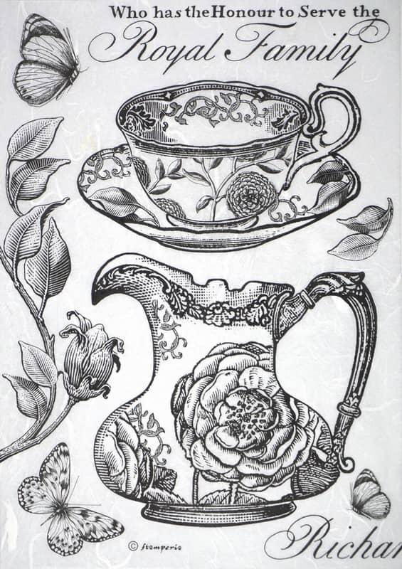 Rice Paper - Teapot Royal family