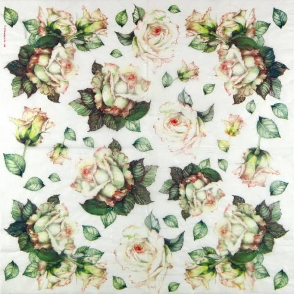 Rice Paper - White Roses