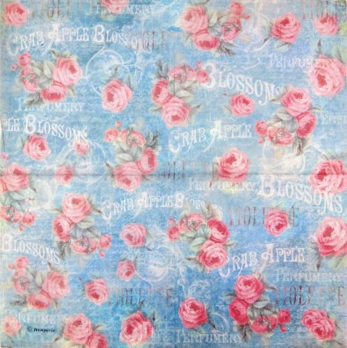 Rice Paper - Versaille Roses Blossom