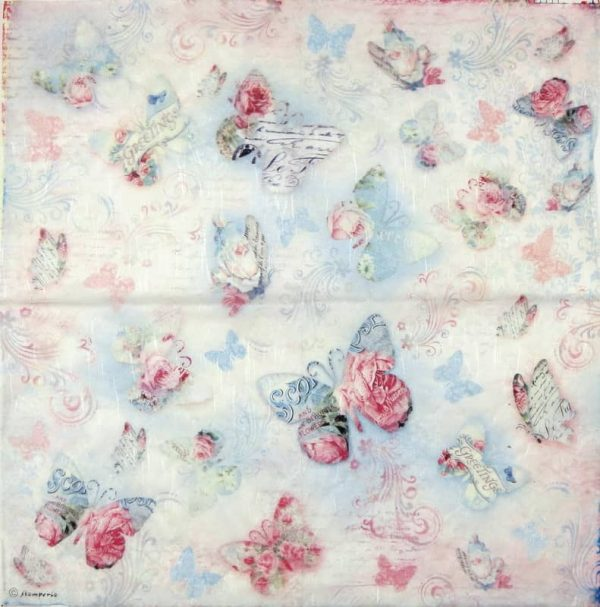 Rice Paper - Butterfly Greetings
