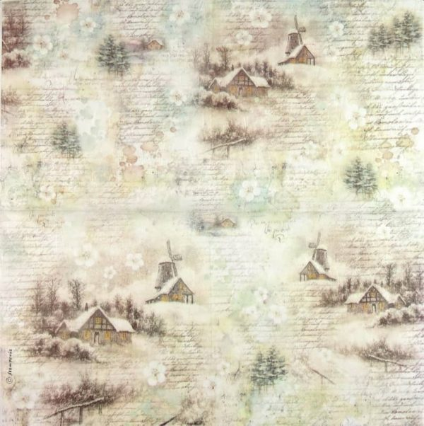 Rice Paper - Snowy Landscape