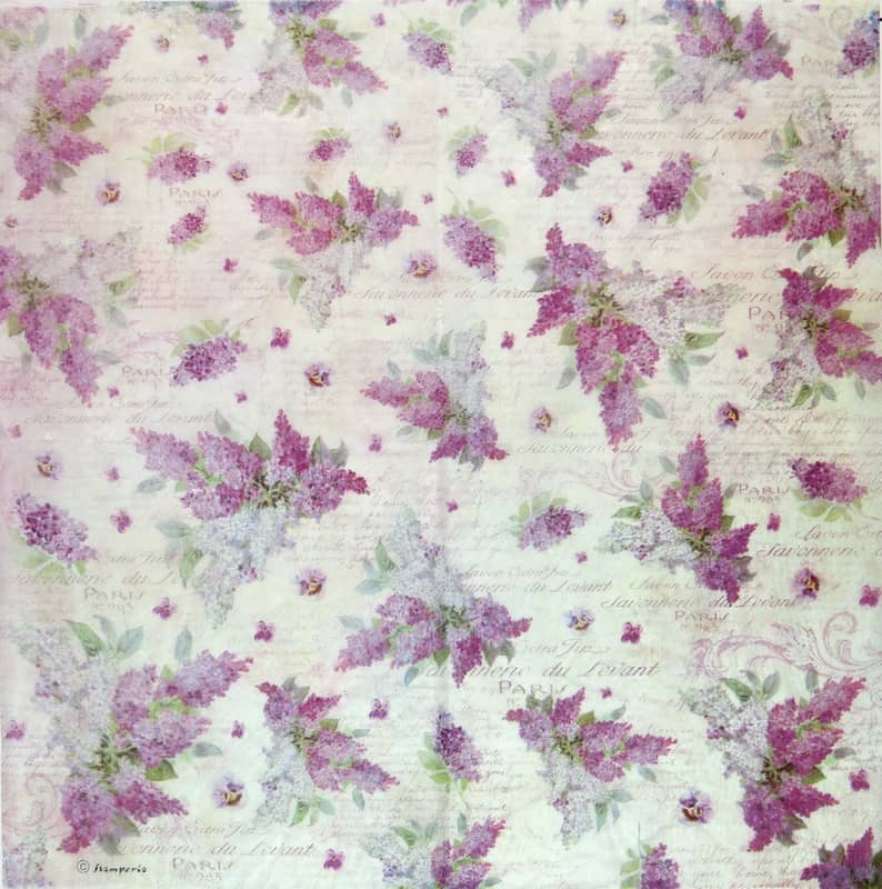 Rice Paper - Lilac Flower