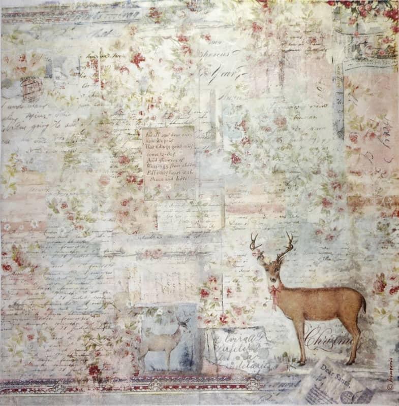 Rice Paper - Sweet Christmas Moose