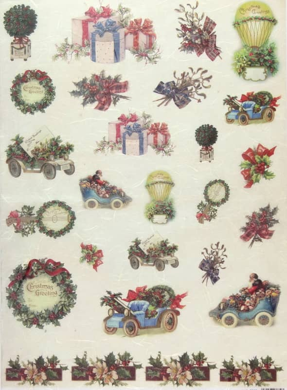 Rice Paper - Christmas Greeting