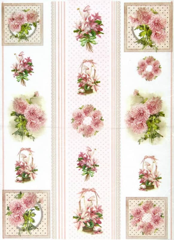 Rice Paper - ScrSheetVintage Romantic Pink