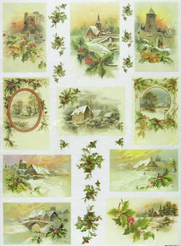 Rice Paper - Winter Landscapes