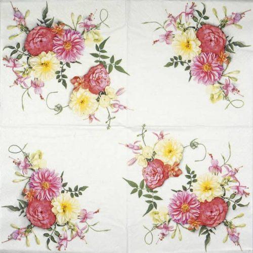 Paper Napkin - Delicate flowers composition