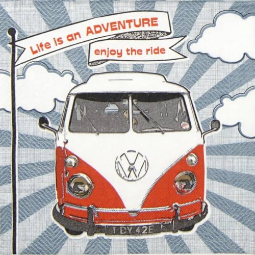 Paper Napkin - Enjoy Hippie Ride