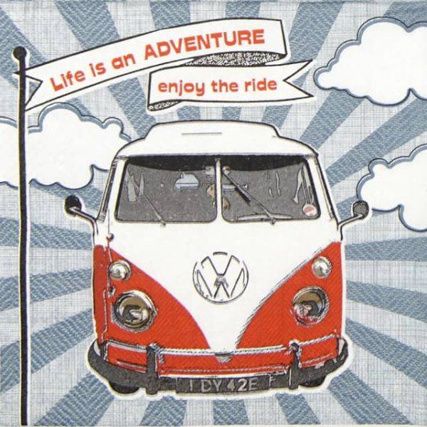 Paper Napkin - Enjoy Hippie Ride