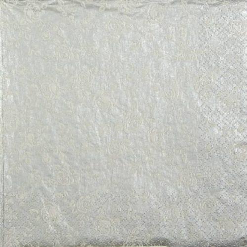 Paper Napkin - Little Roses silver_Daisy_SDOG017303