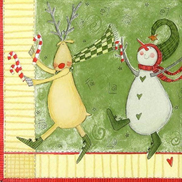 Paper Napkin - Christmas Snowmen