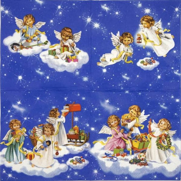 Lunch Napkins (20) - Angels with Toys