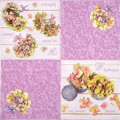 Lunch Napkins (20) - Hydrangea Flowers