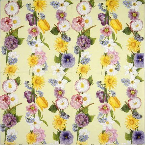 Lunch Napkins (20) - Spring Flower Garland