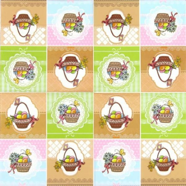 Paper Napkin - Four Easter Baskets