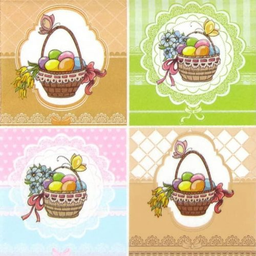 Paper Napkin - Four Easter Baskets