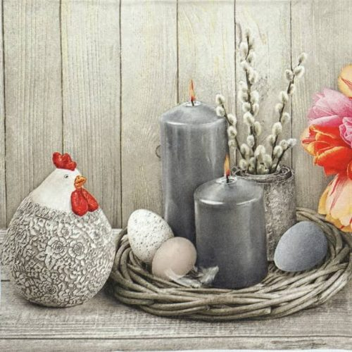Paper Napkin - Natural Easter