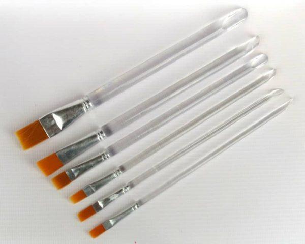 6x Brushes for Decoupage Decopatch Technique different sizes