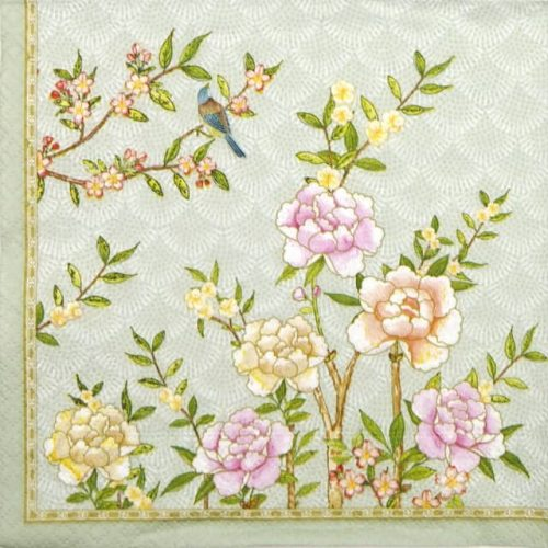 Paper Napkin - Palace Garden Aqua