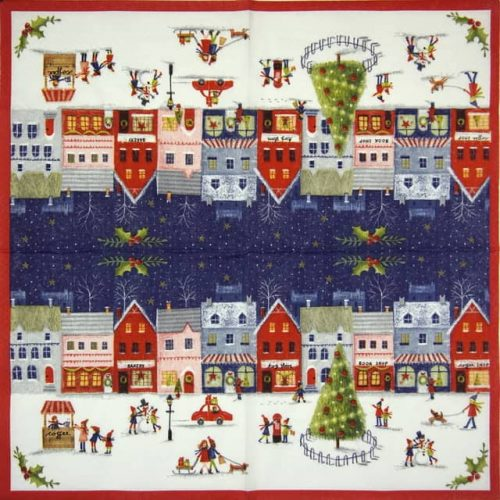 Paper Napkin - Xmas Village