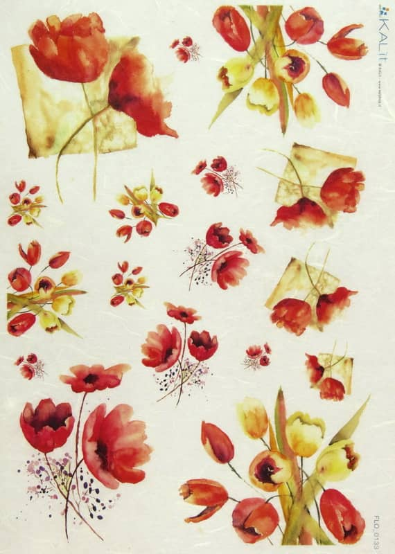 Rice Paper - Poppies