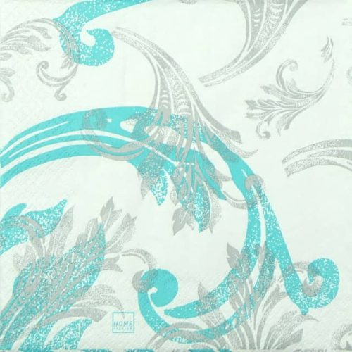 Paper Napkin - Classy Ornaments turquoise
