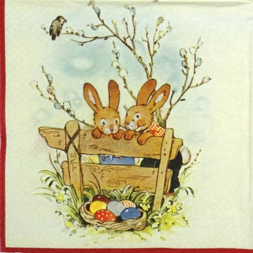 Lunch Napkins (20) - Bunny Friends