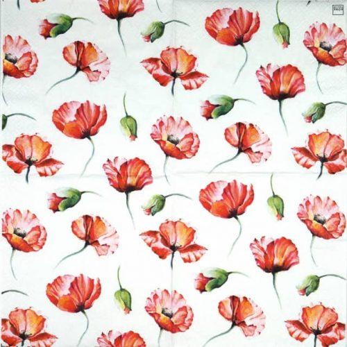 Paper Napkin - Poppy Drawing