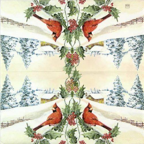 Paper Napkin - Cardinal