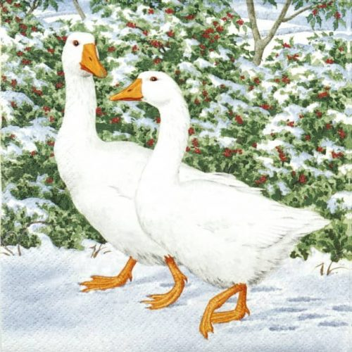 Lunch Napkins (20) -  Geese Couple