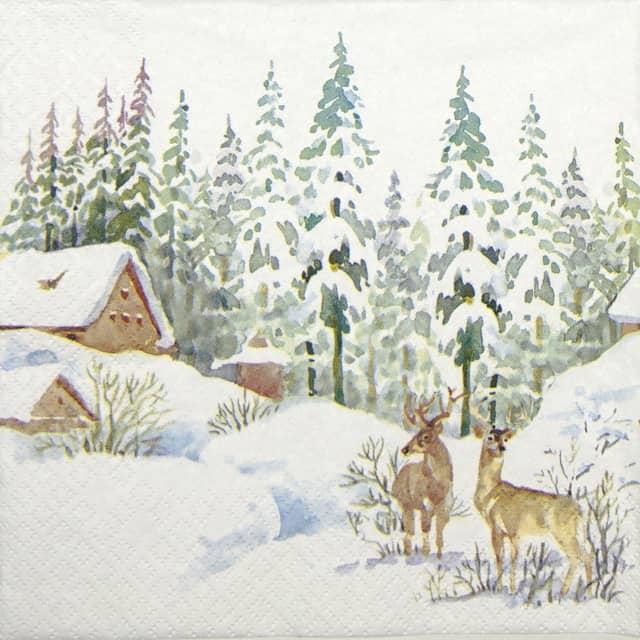 Lunch Napkins (20) - Winter Scene