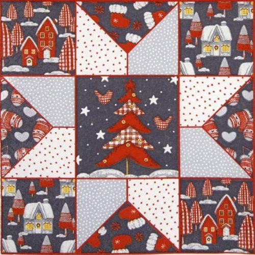 Paper Napkin - Christmas Patchwork