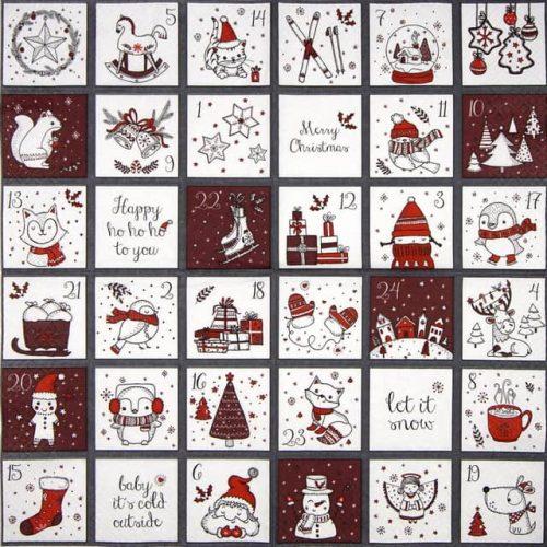 Paper Napkin - Cute Calendar