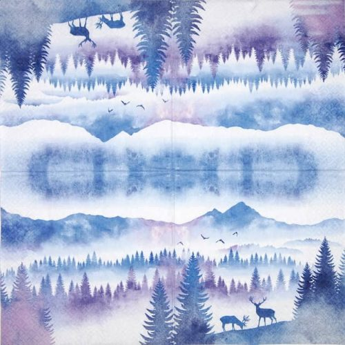 Paper Napkin - Deers in Mountains_Home-Fashion_611932