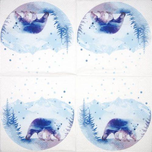 Paper Napkin - Polar Bear_Home-Fashion_611935