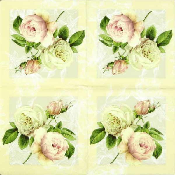 Lunch Napkins (20) - Cottage Roses