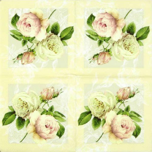 Paper Napkin - Cottage Roses