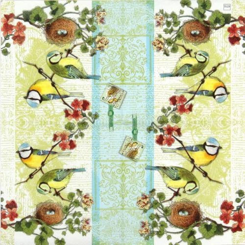 Lunch Napkins (20) - Bird Family