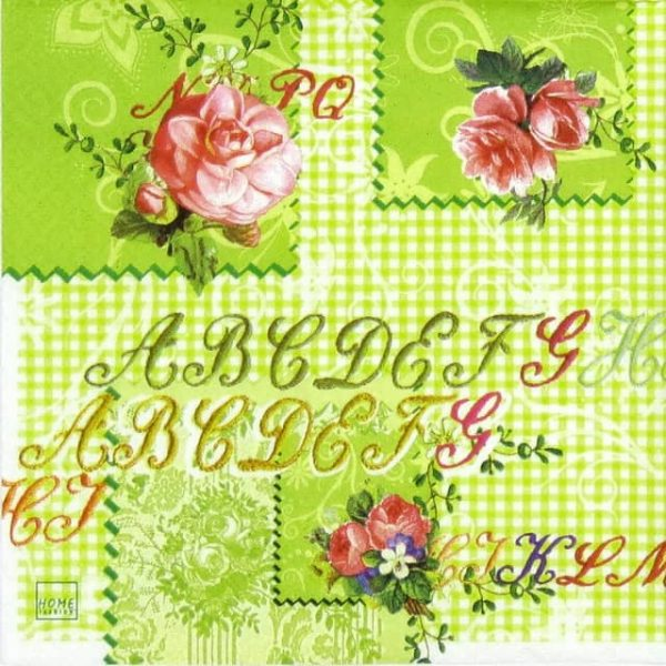 Lunch Napkins (20) - Stitched Letters