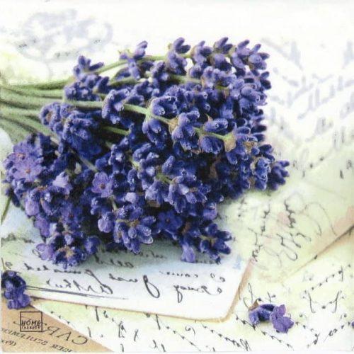 Paper Napkin - Lavender Greeting