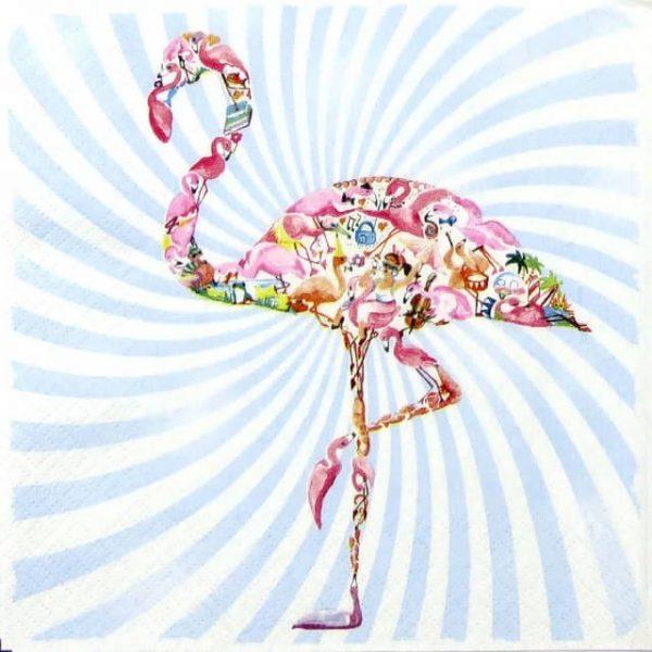 Paper Napkin - Flamingo