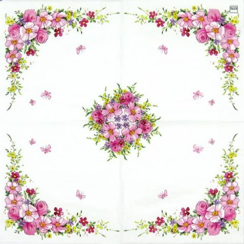Paper Napkin - Cute Flowers