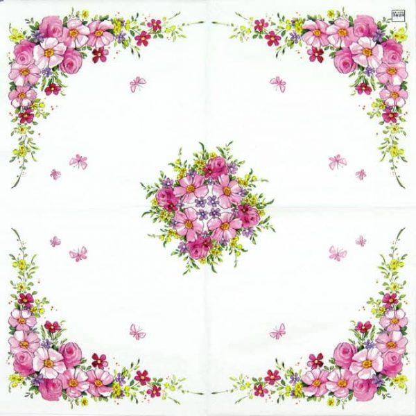 Paper Napkin - Cute Flowers