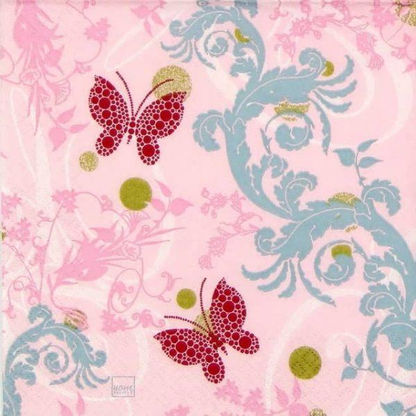 Paper Napkin - Papillon Ornament Rose