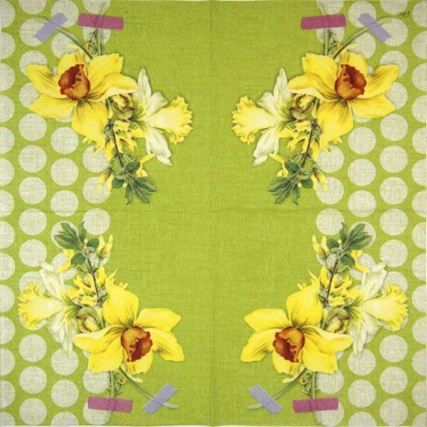 Paper Napkin - Narzisse green