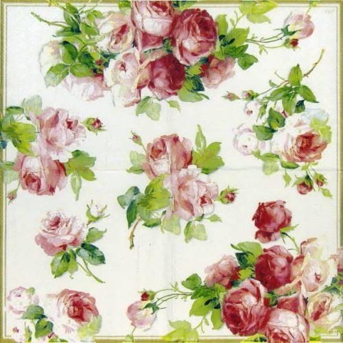 Paper Napkin - Rose Victoria White